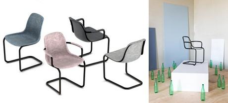 De Thirsty stoel van Zuiver gemaakt van 100% gerecycled materiaal (PET-flessen)